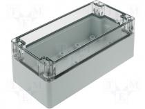FIBOX polycarbonate enclosure 160x80x65mm transp. cover