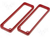 Open Bezel Red ABS Plastic