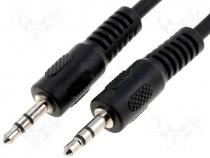 Cable 2x plug jack 3.5mm stereo 10m