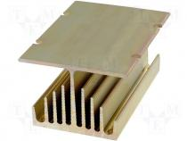 Heatsink for SSR 25-40A 3 phases 75x50x100mm