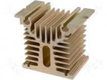 Heatsink for SSR 25A 1 phase 80x70x50mm