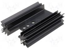 Heatsink black finished L=50,8mm 9,1K/W for TO220