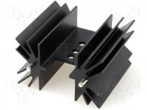 Heatsink black finished type H 6,2K/W 38mm for TO220