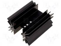 Heatsink black finished type H 5,2K/W 50mm for TO220