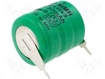 Rechargeable cell Ni-MH 3,6V 80mAh dia 16x18mm 2pin