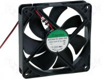 Fan 120x120x25 ball DC12V 183,8m3/h 44,5dBA