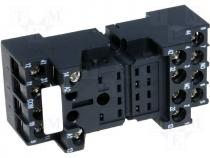 Relay socket, screw terminals, for R4