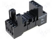 Relay socket, DIN rail mounting, 4 poles