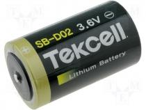 BAT-ER34615 - Lithium battery 3,6V dia34x61 19000mAh D TEKCELL