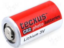 BAT-CR2/TX - Lithium battery 3V dia. 16x27mm Texcus