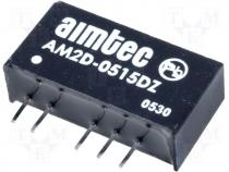 DC2WSIL5/15-15 - Converter DC/DC 2W Iout:66mA Uout:15V DC Uin:5V DC