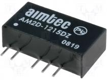 DC2WSIL12/15-15 - Converter DC/DC 2W Iout:67mA Uout:15V DC Uin:12V DC