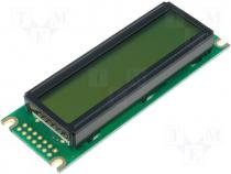 RC1602D - Display LCD 16x2 green 85x30x13.2mm