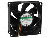 Fan  DC, axial, 24VDC, 80x80x25mm, 96.84m3/h, 45dBA, Vapo, 8.89mmH2O