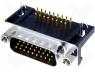 DMR26M-HD - Connector HD D Sub male angled PIN 26 THT UNC4 40