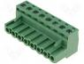 Terminal Blocks - Pluggable terminal block plug female 2.5mm2 5.08mm on cable