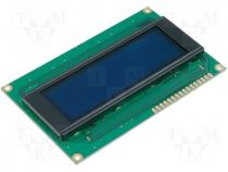 Display OLED alphanumeric yellow Window dimensions 77x25.2mm