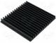 SK44/150/SA - Heatsink extruded grilled black L 150mm W 159mm H 15mm
