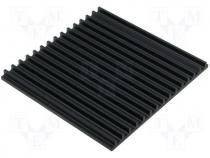 SK105/150/SA - Heatsink extruded grilled black L 150mm W 159mm H 10mm