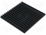 Heatsinks - Heatsink extruded grilled black L 150mm W 159mm H 10mm