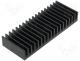 SK81/37.5/SA - Heatsink extruded grilled black L 37.5mm W 100mm H 15mm