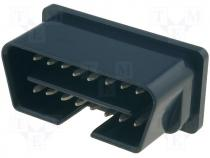 Connector diagnostic OBD II male PIN 16
