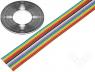Cable ribbon 1.27mm stranded Cu 16x28AWG PVC 300V 30 5m