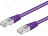Patch cord F/UTP 5e connection 1 1 stranded CCA PVC violet