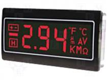 Panel meter LCD 3 5 digit 10mm  negative Backlight colour red