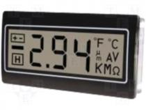 Panel meter LCD 3 5 digit 10mm  without backlight 48x24mm