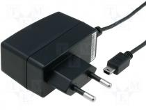 Pwr sup.unit pulse 5V 1.2A 6W Out mini USB 64x22.5x48.5mm
