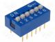 DS-06 - Switch DIP SWITCH Poles number 6 ON OFF 0.05A/12VDC  25÷80°C