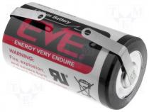 EVE-ER34615CNR - Battery lithium 3.6V D soldering lugs Ø32.9x61.5mm 19000mAh