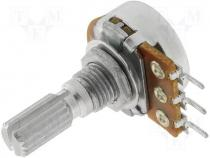 R16110N-B10K - Potentiometer shaft, single turn 10kΩ 100mW ±20% THT 6mm