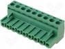 TBW-5-9P/GN - Pluggable terminal block plug female straight 5.08mm ways 9