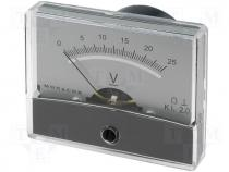 Panel meter 0÷25V Accuracy class 2,5 25kΩ