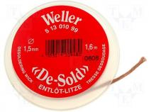Braid desoldering, W 1.5mm, L 1.6m