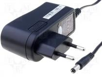 AC/DC-CL12/0.7 - Pwr sup.unit pulse, 12V, Out 5,5/2,1, 700mA, 8.4W, Plug EU