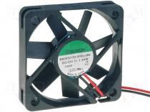 EB50101S2-999 - Fan DC, 12VDC, 50x50x10mm, 18.6m3/h, 26dBA, slide bearing, 1.44W