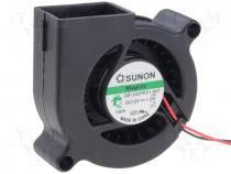GB1205PKV1-8AY - Fan DC, 12VDC, 50x50x20mm, 9.68m3/h, 35dBA, Vapo, 1.5W, 6÷13.8V