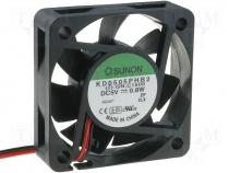KD0505PHB2 - Fan DC, 5VDC, 50x50x15mm, 22.1m3/h, 30dBA, ball bearing, 0.8W, 4÷6V