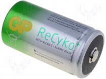 ACCU-R20/5700-GP - Rechargeable battery Ni-MH, D, 1.2V, 5700mAh, ReCyko