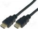 Καλώδιο HDMI - Cable, HDMI 1.4, HDMI plug, both sides, 2m, black