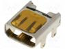Connector micro HDMI, socket, PIN 19, gold plated, SMT