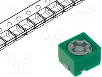 Trimmer ceramic, 6.5pF÷30pF, SMD, green, 100VDC