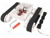 Robo.access  tracked chassis, 86,8 1, white, 245x225x75mm, 7.2VDC