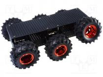 DAGU-RS003B75 - Robo.access  wheeled chassis, 75 1, black, 420x300x130mm