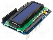 MR007-005.1 - Shield, LCD display, 5VDC, switches, Connector type  pin strips
