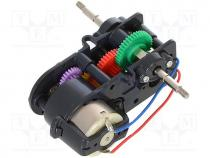 --- - Motor  DC, with gearbox, 1.5÷4.5VDC, dbl.sided shaft  yes, 2.7A