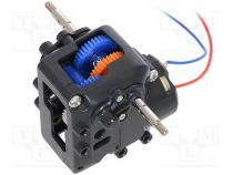 TAMIYA-72008 - Motor  DC, with worm gear, 1.5÷4.5VDC, dbl.sided shaft  yes, 2.7A